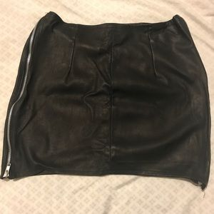 New REAL LEATHER Nasty Gal Mini Skirt